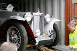 Containers protect Classic Vehicles
